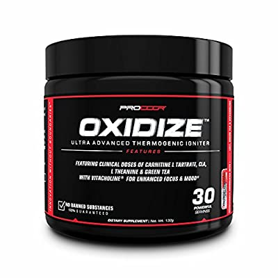 Oxidize - Extreme Thermogenic & Mood Enhancement Natural Fat Burner Powder 30 Day Supply - Strawberry Dragonfruit …