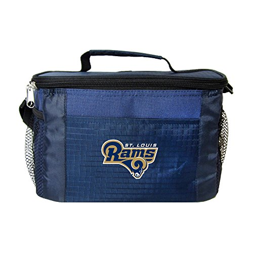 (NFL St. Louis Rams Insulated Lunch Cooler Bag with Zipper Closure, Navy)