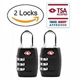 DUEPLAY 2x TSA Approve Luggage Lock 3 code Combination Travel Suitcase Padlock