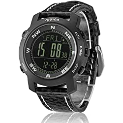 Spovan Mens Sapphire Sports Watch Digital Altimeter Barometer Compass Stopwatch