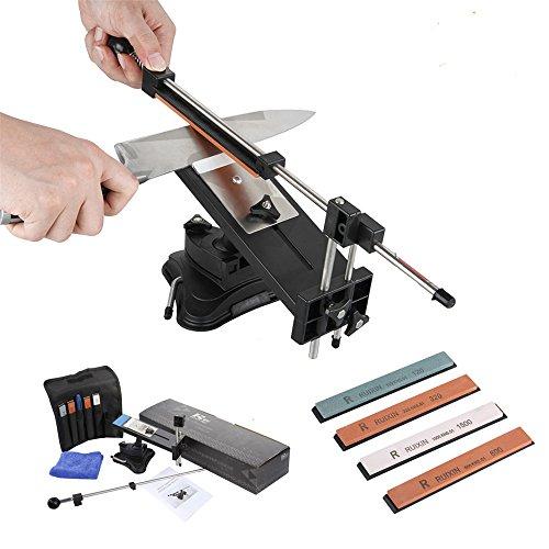 Ruixin Pro II - Afilador profesional para cuchillos (sistema de afilado de 2º chef, lápiz, Apex Edge, afilador profesional,...
