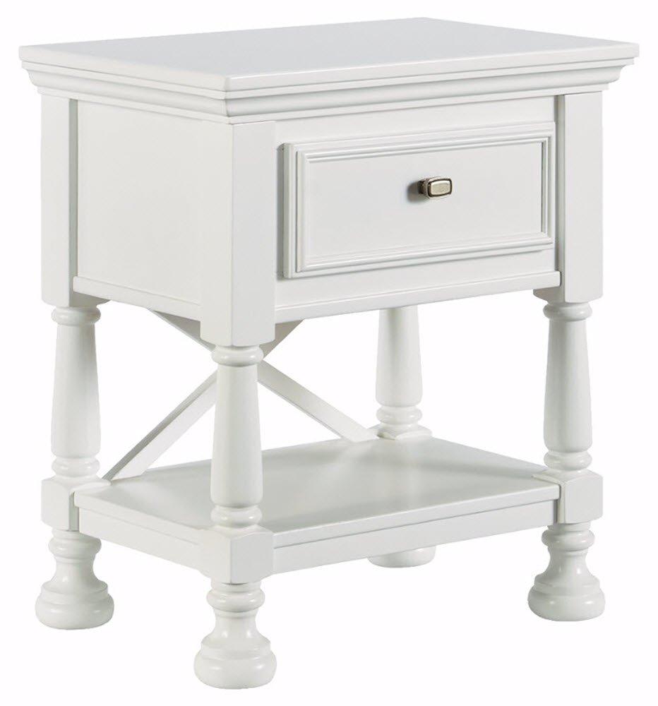 Ashley Furniture Signature Design - Kaslyn Nightstand - 1 Drawer - Casual - White