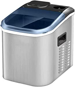 XHCP Portable Ice Maker Machine for Countertop, 24 Bullet Ice Cube Ready in 10-15 Mins, 55 Lbs/24H Production, Electric Icemaker with Scoop and Basket, Stainless Steel