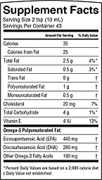 Barlean\'s Organic Oils Omega Swirl Fish Oil, Lemon Zest, 16-Ounce Bottle-Packing May Vary
