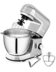 CHEFTRONIC Stand Mixer, Kitchen Mixer,Electric Mixer, 120V 350W, 6 Speeds,