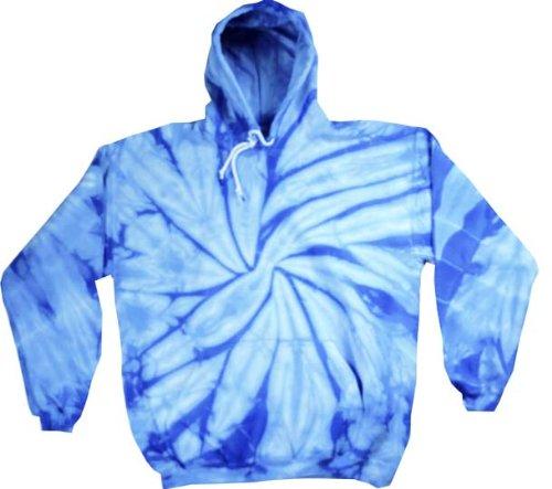Tie Dye Spider Baby Blue Retro Vintage Groovy Adult Hoody Hooded Sweatshirt Hoodie