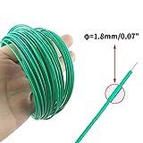 KINGLAKE 100 Feet Green Sturdy Plastic Coated