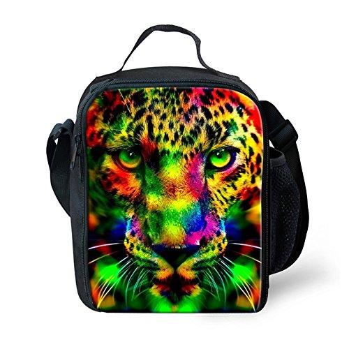 Mumeson Cheetah Print Kids Thermal Insulated Lunch Bags Kit Zipper Around