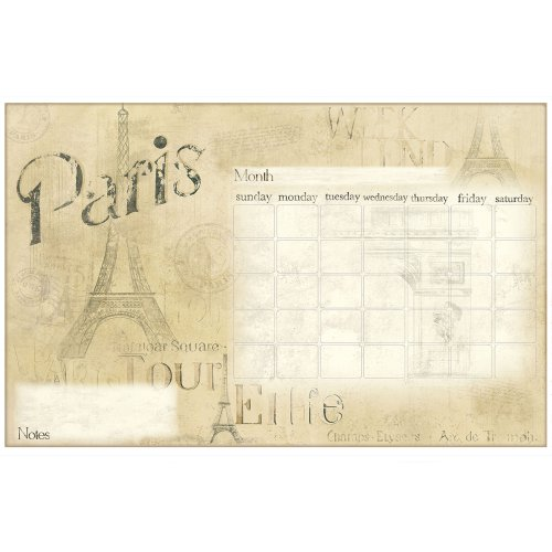 RoomMates RMK2475SLM Paris Dry Erase Calendar Peel and Stick