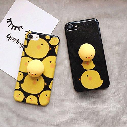 Phone Taschen & Schalen Für iPhone 6 Plus & 6 s Plus schwarzer Hintergrund 3D schöne kleine Huhn-Muster Squeeze Relief IMD Verarbeitung Squishy Dropproof schützende Rückseite Case ( Color : Yellow )