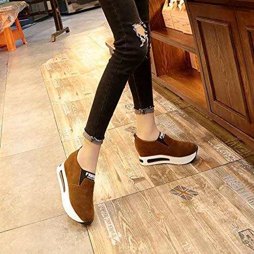Plate Compensées En Running Augmentation Hauteur Daim Femmes Manadlian Coussins La forme De Marron Épaisse Sneaker Chaussure Interne Sport Chaussures q4TxxgOY