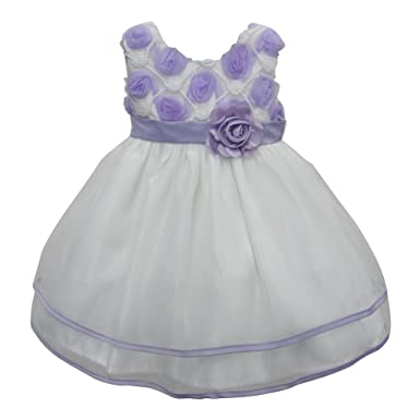 Amazon baby girls white lilac floral bloom bodice sash flower baby girls white lilac floral bloom bodice sash flower girl dress 12m mightylinksfo