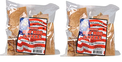 Picture of (2 Pack) Best Buy Bones Nature's Own Pet Chews Moo Cheeks Bag Treat, 8 oz