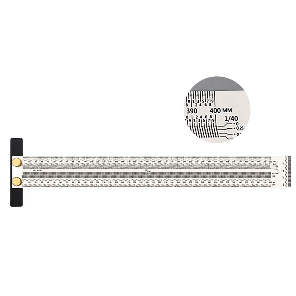 Scriber Dibujo de Linea Horizontal Vertical Herramientas de Precisi/ón 400 mm FLAMEER Trazador para Carpinter/ía