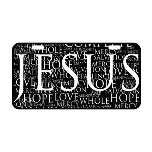WECE Jesus Quotes Christ Christian Quotes Car Decor Metal License Tag Plate Cover - 11.8