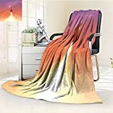 AmaPark Digital Printing Blanket ofRocket ing to Sky Technology and Theme Salmon and Summer Quilt Comforter