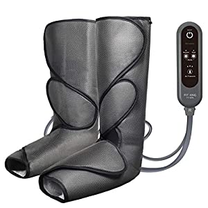 FIT KING Leg Air Massager for Circulation and Relaxation Foot and Calf Massage with Handheld Controller 3 Intensities 2 Modes(with 2 Extensions)