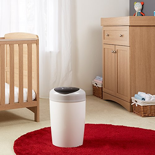 Tommee Tippee Simplee Diaper Pail Starter Set with 4 Refills, Gray