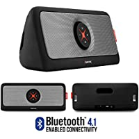 Bluetooth Speakers, Alpatronix [AX440] 30W Ultra Portable Bluetooth Wireless Stereo HD Speaker w/ Loud, Powerful Bass, USB Flash Drive Support & PowerBank Perfect for Beach, Pool, Golf & Home - Black