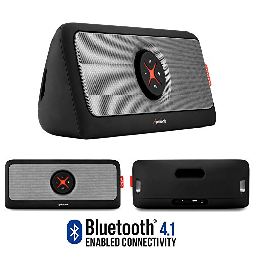 Bluetooth Speakers, Alpatronix [AX440] 30W Ultra Portable Bluetooth Wireless Stereo HD Speaker w/ Loud, Powerful Bass, USB Flash Drive Support & PowerBank Perfect for Beach, Pool, Golf & Home - Black