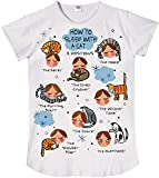 Nightshirt Says How to Sleep with a Cat,ONESIZE