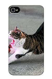 TYH - Afdf New Iphone 4/4s Case Cover Casing(cats Purple Lasers )/ Appearance ending phone case