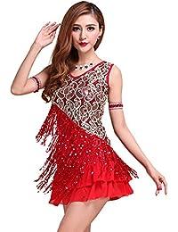 Lady Latin Tango Salsa Cha Cha Ballroom Dress Performances Dancing Skirts