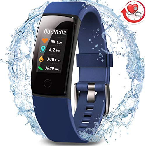 MorePro Waterproof Health Tracker, Fitness Tracker Color Screen Sport Smart Watch,Activity Tracker with Heart Rate Blood Pressure Calories Pedometer Sleep Monitor Call/SMS Remind for Smartphones Gift For Sale