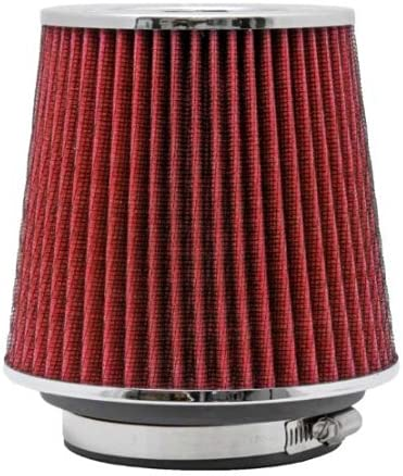 "3.5/"" Inch Universal Race Inlet Cone Air Filter Intake Red"