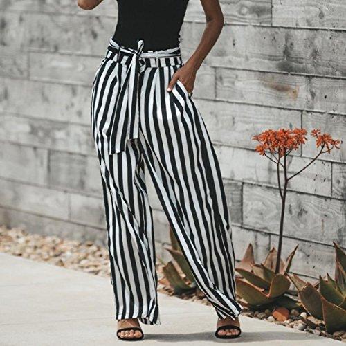 De Noir Pantalon Printemps Automne Plage Mode Taille Pantalon Bande zahuihuiM Casual Lache Haute Femmes Bow 4IwxAgq6