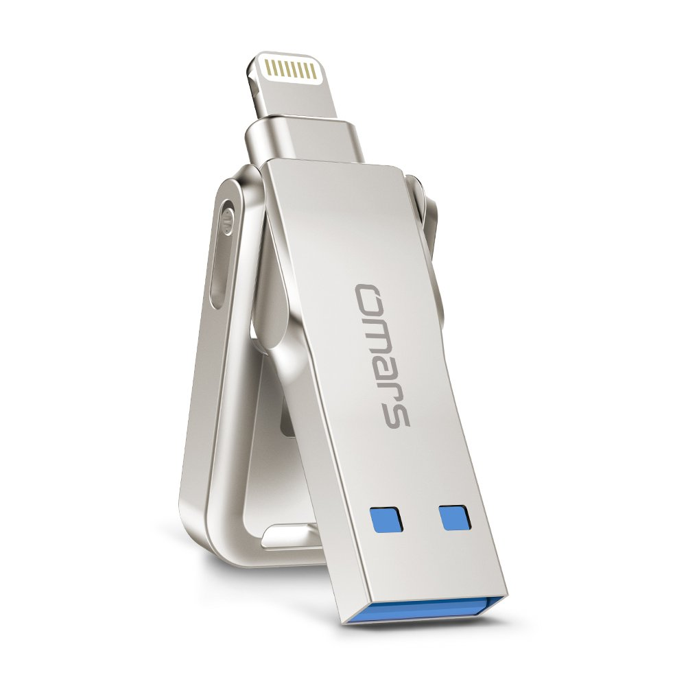 Omars iPhone Flash Drive,64/128G 3.0 USB Memory Stick with 5mm Extended Connector, Apple MFI Certified (64G Sliding)