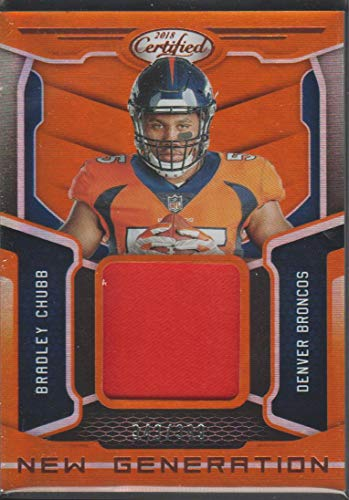 (2018 Certified Bradley Chubb Broncos 343/399 Game Used Jersey Football Card #26 )