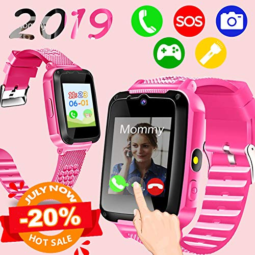 iGeeKid Kids Touchscreen Smart Watch Phone, [Big Sale] Cellphone Watch with 2 Way Call Camera SOS Clock Game Flashlight Electronic Learning Toys