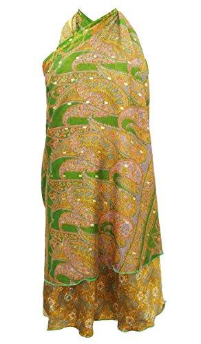 Garden Silk Magic Wrap Reversible Long Hippie Skirt Hippie Silk Skirt