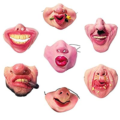 Rosymity Halloween Latex Half Face Mask Masquerade Men and Women Funny Mask for Parties: Home & Kitchen