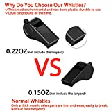 Hipat Whistle, 2 Packs Plastic Sports Whistles with Lanyard, Loud Crisp Sound Whistle Ideal for Coaches, Referees, and Officials