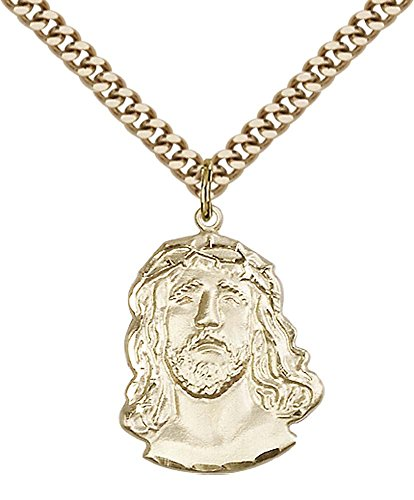 14kt Gold Filled ECCE Homo Pendant with 24