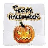 Tufted Chair Cushion Happy Halloween Pumpkin