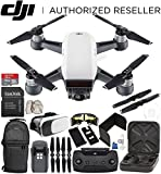 DJI Spark Portable Mini Drone Quadcopter (Alpine White) + DJI Spark Remote Controller Starter Bundle For Sale