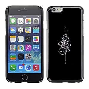 "For Apple (5.5 inches!!!) iPhone 6+ Plus / 6S+ Plus , Negro Espada Serpiente tribal Seis arte vikingo"" - Diseño Patrón Teléfono Caso Cubierta Case Bumper Duro Protección Case Cover Funda"