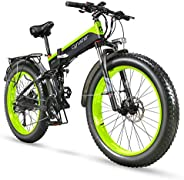 EXTRBICI XF690 Folding Fat Tire Bike 48V 1000W 12.8AH for Adults Foldable Snow Bicycle Motorized with Full Sus