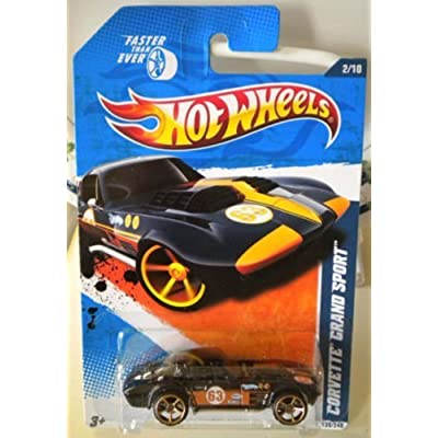 2011 Hot Wheels Kmart Exclusive Faster Than Ever: Corvette Grand Sport (Black): Toys & Games