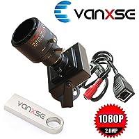 Vanxse CCTV Sony CMOS 2.0MP 1080P HD Mini SPY Network IP Security Camera Surveillance IP camera IPhone Remote View (2.8-12mm Varifocal Lens)