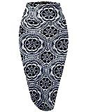 Womens Pencil Skirt for Office Wear KSK43584X 9 1X,Medallion_9,1X Plus
