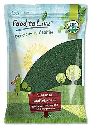 Polvo de espirulina orgánico, proteína verde vegana pura ...