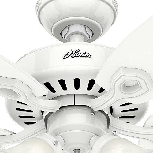 Hunter 53236 Builder Plus 52-inch Ceiling Fan, Snow White by Hunter Fan Company (Image #6)'