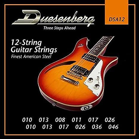 Duesenberg DSA12 - Juego de cuerdas para guitarra eléctrica de 12 ...