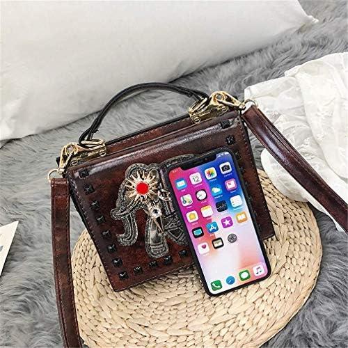 かわいい象の小さな袋、女性の野生のメッセンジャーバッグ、韓国のレトロなショルダーバッグ、携帯用の小さな正方形の袋、20 * 15 * 13 Cm 美しいファッション