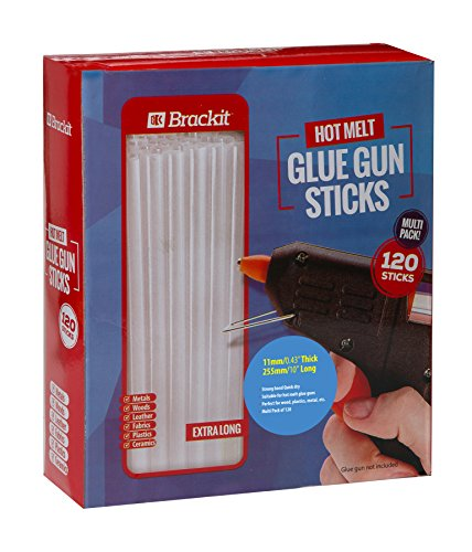 Hot Glue Sticks Gun refill pack: 7/16'' x 10'' (11mm X 255mm) 120 Pack box for use on larger hot melt craft guns. by Brackit (Image #5)