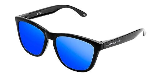 los recién llegados b1dd0 f5978 Hawkers Diamond Black Sky One,Gafas de Sol Unisex, Negro/Azul